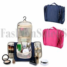 Portable Box Travel Makeup Cosmetic Bag Toiletry Zip Wash Hanging Bag Case Pouch