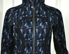 NWT Lululemon Scuba Hoodie II Stained Glass Love Nightfall Black Sz 6 Jacket NEW