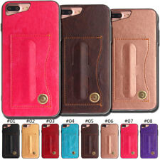 Luxury Cover Skin PU Leather TPU Card Case Stand Soft Protective Back For iPhone