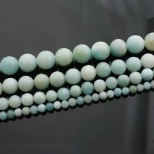 Wholesale 1Strand Nice Natural Amazonite Gem Round Loose Beads 15.5inch HH3612