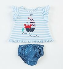 Mud Pie Baby Girls Sailboat Pinafor & Bloomer Set 3M-12M #1112395