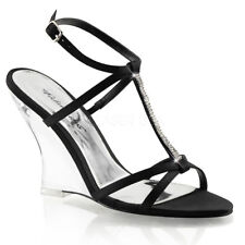 "Fabulicious Lovely-428 Women'S New Fashion 4"" T-Strap Sling Back Wedge Sandal"