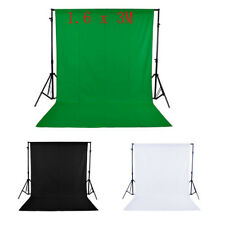 5x10Ft Studio Green Screen Chromakey Backdrop Muslin Video Photo Background