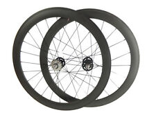 Track fixed gear Single Speed 38mm Clincher Carbon wheels Novatec 165/166 Hubs