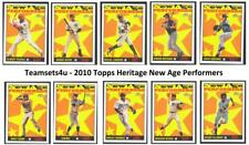 2010 Topps Heritage New Age Performers Baseball Set ** Pick Your Team **