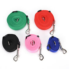 Strong Nylon Pet Puppy Dog Lead Leash Harness Collar Traction Rope Strap PR