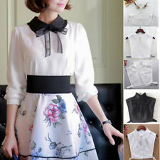Womens Fake Half Shirt Blouse Collar Peter Pan Detachable Collar Cotton