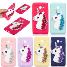 Soft TPU 3D Bling Unicorn Case Cover Shockproof For Samsung Galaxy J3 2016 2017
