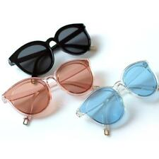 Women Men Cat Eye Fashion Clear Retro Sunglasses Plastic Acrylic Eyewear UV400