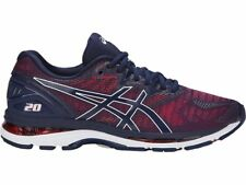 Asics Gel-Nimbus 20 Red Navy Blue Men Running Shoes Regular D Width T800N-4949