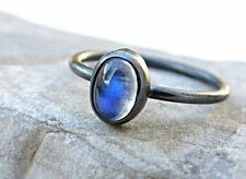RAINBOW MOONSTONE  RING SOLID 925 STERLING SILVER MOONSTONE RING SIZE 3 tO 13