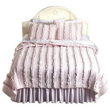 COMFORTER QUILT BED~COVER~BOY~GIRL~BEDDING SETS~SHABBY CHIC~BLUE/PINK/GRAY~F/Q/K