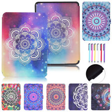 Patterned Smart PU Leather Flip Case Cover For  Amazon Kindle Paperwhite 1/2/3
