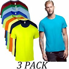 Mens tee Pack of 3-Anvil TShirt Value Pack-Gents Basic T-Shirt Value Pack