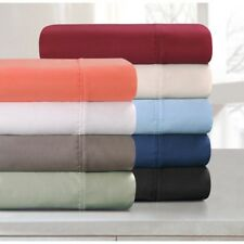SOLID ALL COLORS & SIZE 4PCS SHEET SET AVAILABLE 1000TC 100% EGYPTIAN COTTON