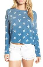 NWT Billabong Womens By Your Side Terry Pullover Stars Sweatshirt Large FTC 5478