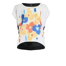 Samya Plus Size Multicolor Contemporary Floral Print Knit Top Sizes 20, 26