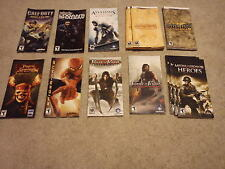 Sony PSP MANUALS ONLY- SOCOM, Call of Duty Prince of Persia, Medal of Honor MORE