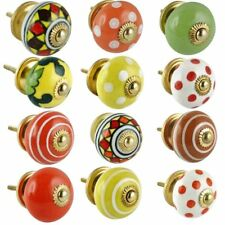 Shabby Chic colorful mix Ceramic Drawers Knobs Door Cupboard Pulls Kitchen Knob