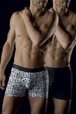 PACK 2 BOXERS brand AUBADE MEN color SECRET LOCKS AND black size S/M/L / XL
