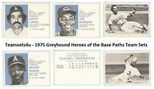 1975 Greyhound Heroes of the Base Paths Baseball Set ** Pick Your Team **