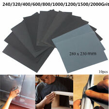 10pcs 230mm x 280mm Silicon Carbide Waterproof Sandpaper 240-2000 Grit Sanding