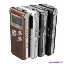Mp3 Player Steel Rechargeable Digital Audio 8gb Voice Recorder 650hr / USB Cable