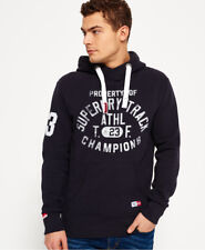 New Mens Superdry Trackster Hoodie Truest Navy