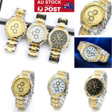 Mens Luxury Classic Quartz Watch Analog Stainless Steel Date Dress Wrist Watch