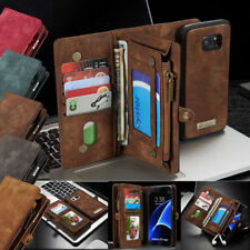 For Galaxy S9/Note 8/S7 Edge Leather Case Removable Wallet Magnetic Flip Cover