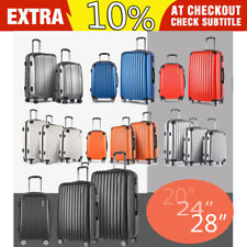 2PC 3PC Luggage Suitcase Spinner Wheels Lightweight Trolley Travel Bag Hard Case