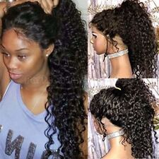 Virgin Indian Human Hair Lace Front Wig Full Lace Wig Loose Wavy Kinky Curly fbs
