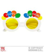 One Size Unisex Happy Birthday Slogan Balloon Theme Yellow White Sunglasses