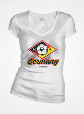 Soccer World Cup, Russia 2018, Germany Champion Theme Women's V-Neck T-Shir