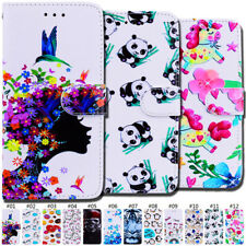 For Samsung Galaxy Cover Magnetic PU Leather Card Wallet Holder Painted TPU Case