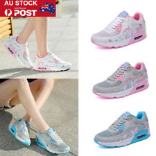 AU Women Girls Breathable Mesh Air Trainers Sport Sneakers Casual  Lace Up Shoes