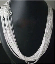"""Wholesale Lot 5/10/20/50 Piece 1MM Silver Link Chain Jewelry Necklace 18"""" Lots"""