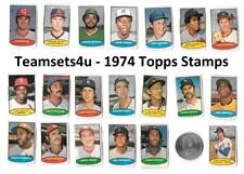 1974 Topps Stamps Baseball Set ** Pick Your Team **