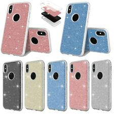 For iPhone X 8 Plus 7 Luxury Bling Glitter Soft TPU Shockproof Back Case Cover