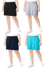 Just My Size Plus Size (2X, 4X, 5X) Jersey Pocket Cotton Shorts