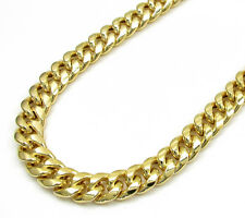 Genuine 10K Yellow Gold Hollow Miami Cuban Link Chain 6 MM Necklace 20-28 Inch