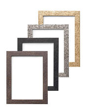 Textured Picture Frame Photo Frame Gold , Silver , Black , Walnut - All Sizes