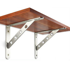 2Pcs Stainless Steel Wall Shelf Holders Brackets For Glass Wood Plate Supports