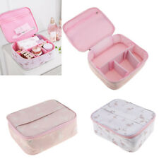 MagiDeal Makeup Train Case Cosmetic Organizer Make Up Storage Bag Wash Pouch