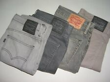Mens LEVIS 511 Grey Slim Fit Denim Jeans W32 W33 W34 W36 W38 W40
