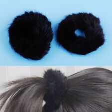 Real Genuine Mink Fur Hair Band Hairband Scrunchie Pony Tail Holder Accessories