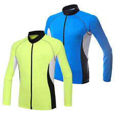 Mens Breathable Cycling Jersey Clothing Sports Long Sleeve Bicycle Tops I0079