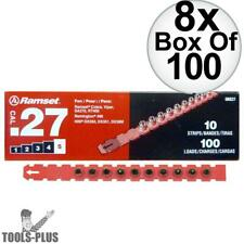 """Ramset 5RS27 8x Box of 100 #5 """"Red"""" 27 cal Strip Loads New"""