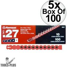"""Ramset 5RS27 5x Box of 100 100pk #5 """"Red"""" 27 cal Strip Loads New"""