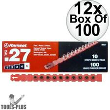 """Ramset 5RS27 12x Box of 100 #5 """"Red"""" 27 cal Strip Loads New"""